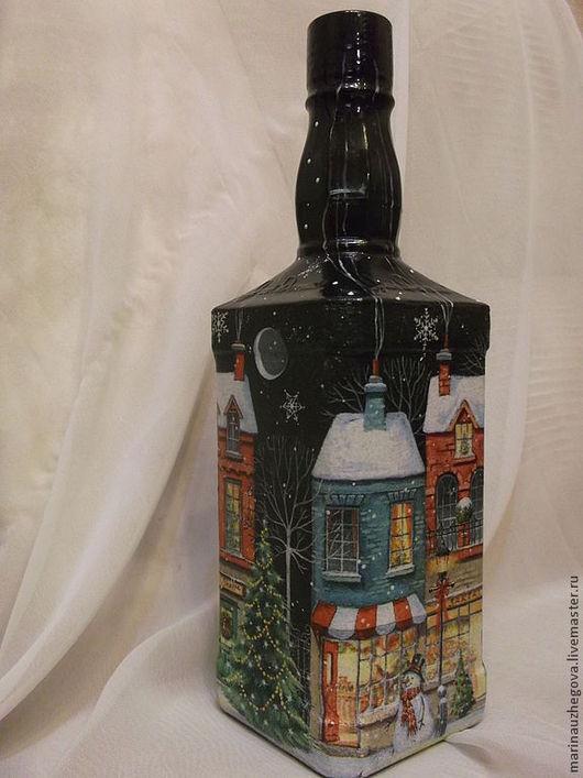 Персональные подарки ручной работы. Ярмарка Мастеров - ручная работа. Купить Зимня ночка. Handmade. Для примера, виски, салфетка