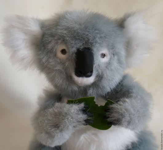 Куклы и игрушки ручной работы. Ярмарка Мастеров - ручная работа. Купить Коала. Handmade. Серый, фимо, Австралия, металлический гранулят