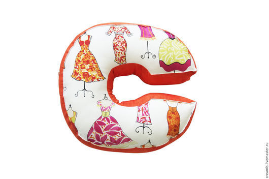 Текстиль, ковры ручной работы. Ярмарка Мастеров - ручная работа. Купить Мягкая Буква С. Handmade. Кремовый, подушка