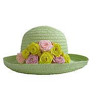 Аксессуары handmade. Livemaster - original item Women`s summer hat with flowers BOUQUET of ROSES. Handmade.
