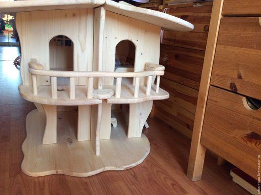 Кукольный дом ручной работы. Ярмарка Мастеров - ручная работа. Купить Игровой кукольный домик 4 комнаты. Handmade. Комбинированный