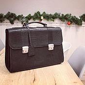 Сумки и аксессуары handmade. Livemaster - original item Portfolio: Leather briefcase M-4\2-001VRT. Handmade.