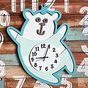 Для дома и интерьера ручной работы. Ярмарка Мастеров - ручная работа Детские настенные часы Мишка. Handmade.
