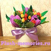 Цветы и флористика ручной работы. Ярмарка Мастеров - ручная работа Горшочек с тюльпанами. Handmade.