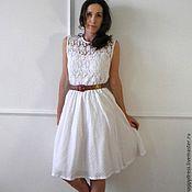 Одежда ручной работы. Ярмарка Мастеров - ручная работа Белое летнее платье. Handmade.