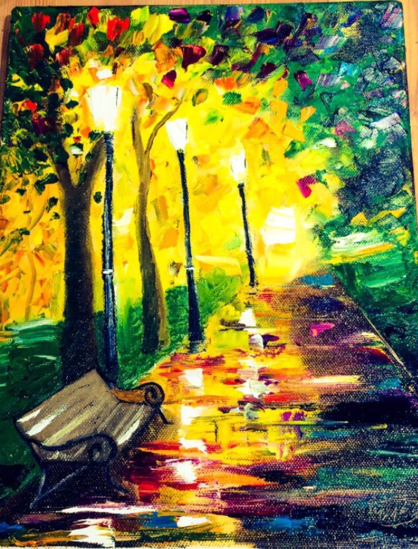 Картина маслом по мотивам Афремова, Картины, Нижний Тагил,  Фото №1