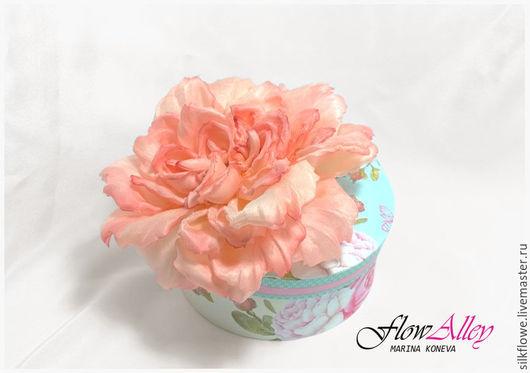 """Цветы ручной работы. Ярмарка Мастеров - ручная работа. Купить Роза из шелка """"Персия"""" - заколка-брошь. цветы из шелка. Handmade."""