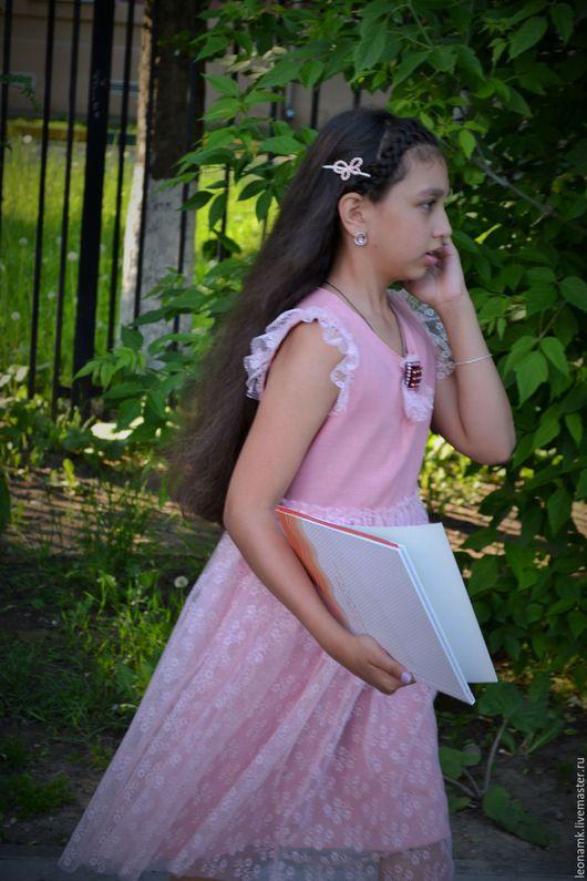 Одежда для девочек, ручной работы. Ярмарка Мастеров - ручная работа. Купить платье для девочки. Handmade. Кремовый, праздничное платье