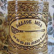Русский стиль ручной работы. Ярмарка Мастеров - ручная работа Туес для мёда.. Handmade.