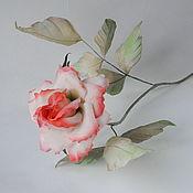 Цветы и флористика handmade. Livemaster - original item Flowers from fabric interior rose silk