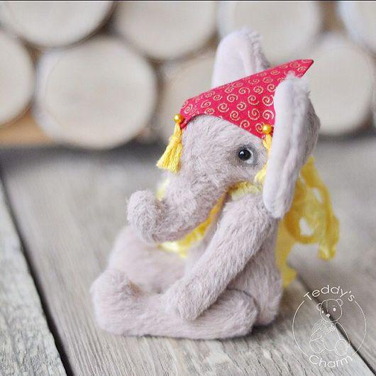 Мишки Тедди ручной работы. Ярмарка Мастеров - ручная работа. Купить Индийский слон Джимми. Handmade. Бежевый, слоник тедди