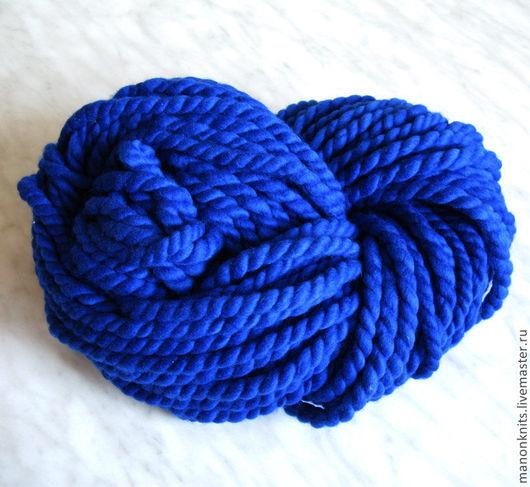 Вязание ручной работы. Ярмарка Мастеров - ручная работа. Купить Пряжа  для вязания ГУЛЛИВЕР Синий толстая пряжа ручного прядения. Handmade.