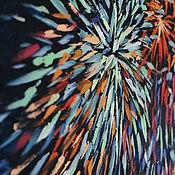 Картины и панно ручной работы. Ярмарка Мастеров - ручная работа Картина маслом пейзаж «Отражение праздника». Handmade.