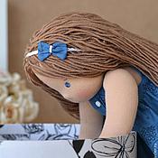 Куклы и игрушки ручной работы. Ярмарка Мастеров - ручная работа Вальдорфская кукла Алиса с котенком. Handmade.