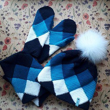 Аксессуары ручной работы. Ярмарка Мастеров - ручная работа Комплект: шапка, снуд, варежки. Handmade.
