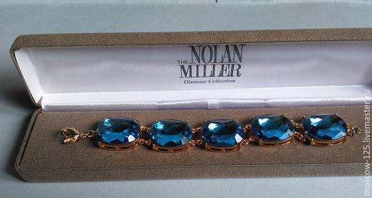 Винтажные украшения. Ярмарка Мастеров - ручная работа. Купить Nolan Miller Бирюзовый браслет с камнями. Handmade. Синий, бирюзовый браслет