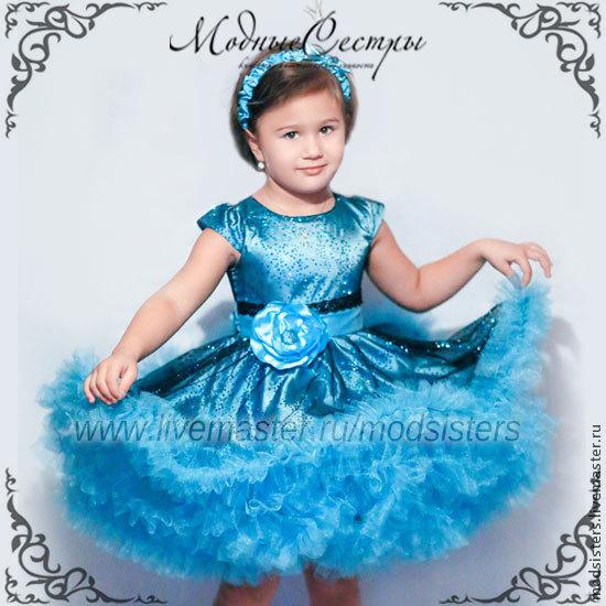 Baby dress 'Blue splatter' Art.152, Childrens Dress, Nizhny Novgorod,  Фото №1