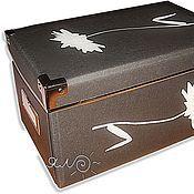 Для дома и интерьера ручной работы. Ярмарка Мастеров - ручная работа Коробка картонная Хризантема. Handmade.