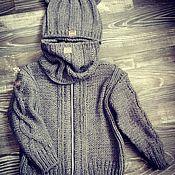 Работы для детей, ручной работы. Ярмарка Мастеров - ручная работа Комплект куртка шапка снуд. Handmade.