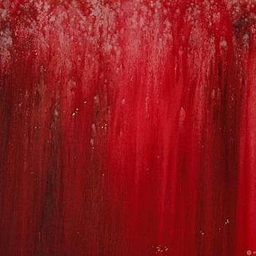 """Картины и панно ручной работы. Ярмарка Мастеров - ручная работа Холст, абстрактная картина """"Красное"""" (акрил). Handmade."""