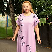 "Одежда handmade. Livemaster - original item Summer dressy dress ""Flowers and leaves-2"" pink. Handmade."