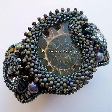 """Украшения ручной работы. Ярмарка Мастеров - ручная работа Браслет """"Ammonite gray"""". Handmade."""