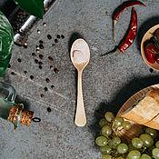 Посуда handmade. Livemaster - original item Wooden teaspoon of Siberian Cedar kitchenware of wood #L25. Handmade.
