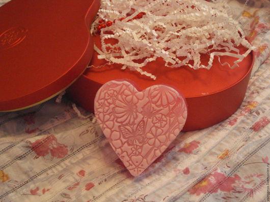 Мыло ручной работы. Ярмарка Мастеров - ручная работа. Купить Ажурное сердце. Handmade. Ярко-красный, красивое мыло