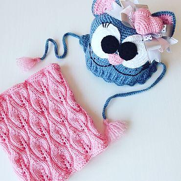 Одежда ручной работы. Ярмарка Мастеров - ручная работа Шапки: кото-шапка и снуд. Handmade.
