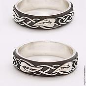 Украшения handmade. Livemaster - original item A silver ring with leaf ornament. Handmade.