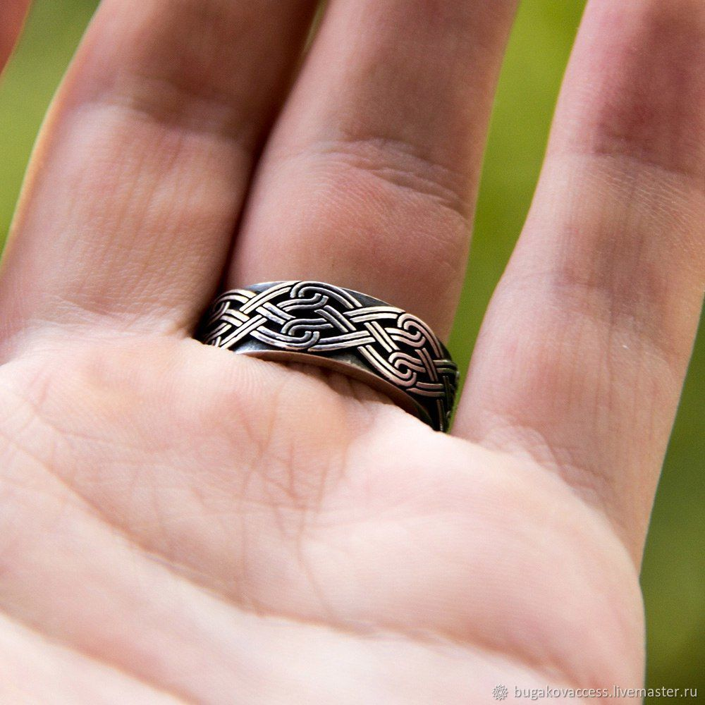 Ring of the Svadebnik with patterns of silver 925 – shop online on ...