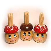 Для дома и интерьера ручной работы. Ярмарка Мастеров - ручная работа Гриб для зубочисток. Handmade.