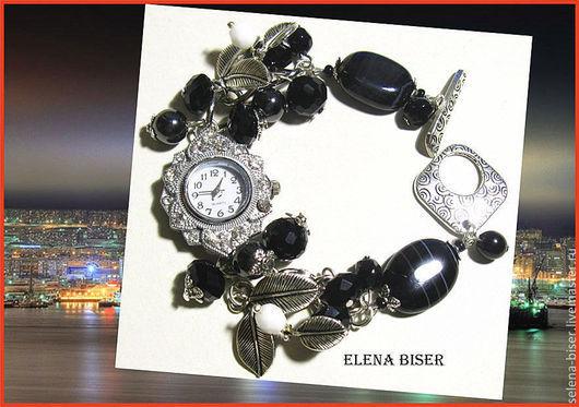 стильные часы браслет  часы - браслет с агатами  браслет наручный  часы наручные  часы женские  агатовые   часы  купить часы в питере, часы - браслет  белый браслет  белые  часы  часы фото   часы цен