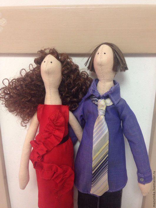 Куклы Тильды ручной работы. Ярмарка Мастеров - ручная работа. Купить Влюбленные. Handmade. Тильда, подарок паре, дерево