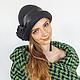 """Шляпы ручной работы. Ярмарка Мастеров - ручная работа. Купить шляпка валяная """"Магия черного"""". Handmade. Черный, женская шляпка"""