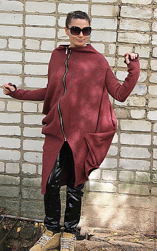 Верхняя одежда ручной работы. Ярмарка Мастеров - ручная работа. Купить Пальто TERRACOT. Handmade. Коралловый, спортивное пальто, гранж