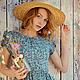 """Платья ручной работы. Платье """" The garden flowers"""".. SAMARSKAYA.. Ярмарка Мастеров. Платье летнее, платье для отдыха"""