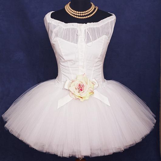 """Юбки ручной работы. Ярмарка Мастеров - ручная работа. Купить """"Белое облако"""" взрослая пышная юбка-пачка из фатина. Handmade."""