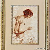 """Картины и панно ручной работы. Ярмарка Мастеров - ручная работа Вышитая картина """"Письмо"""". Handmade."""