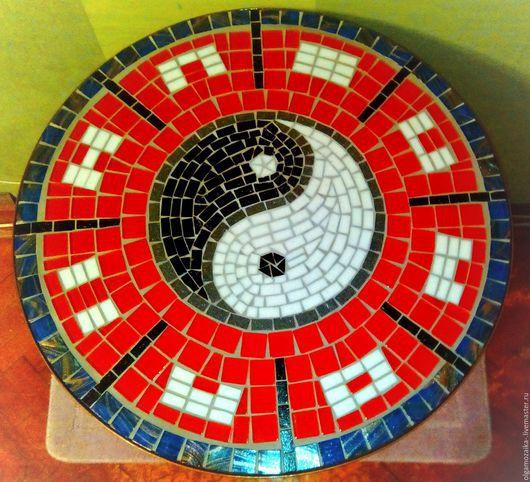 Мебель ручной работы. Ярмарка Мастеров - ручная работа. Купить Стол мозаика Инь-ян. Handmade. Ярко-красный, мозаика
