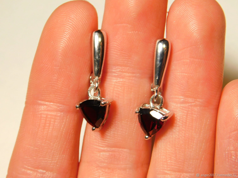 Earrings with garnet, Earrings, Sergiev Posad,  Фото №1