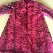 Одежда ручной работы. Ярмарка Мастеров - ручная работа плащ из питона 68 размера. Handmade.