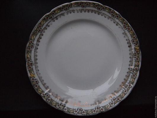 Винтажная посуда. Ярмарка Мастеров - ручная работа. Купить Тарелка русская до 17 год без клейм. Handmade. Белый, кухня