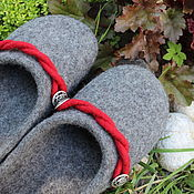 Обувь ручной работы handmade. Livemaster - original item Mens Slippers felted