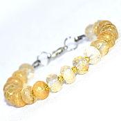 Украшения handmade. Livemaster - original item The bracelet is made of natural rutilated quartz. Handmade.
