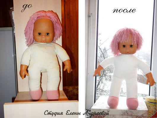 Винтажные куклы и игрушки. Ярмарка Мастеров - ручная работа. Купить Перешивка тельца тряпичной куклы. Handmade. Бежевый, новое тело