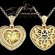 Сердце из желтого золота с бриллиантами и цитрином Jeweller-X.ru