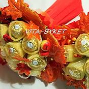 """Цветы и флористика ручной работы. Ярмарка Мастеров - ручная работа Букет из конфет """"Осень"""" осенние букеты из конфет. Handmade."""
