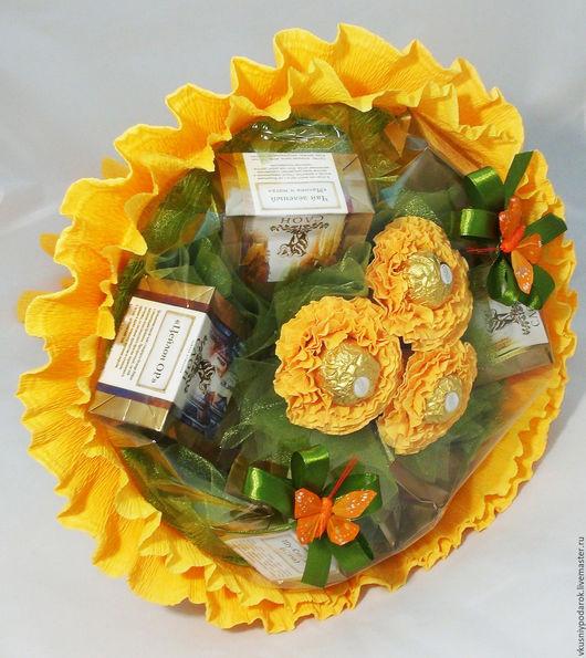 """Букеты ручной работы. Ярмарка Мастеров - ручная работа. Купить Чайный букет """"Золотая осень"""". Handmade. День учителя"""