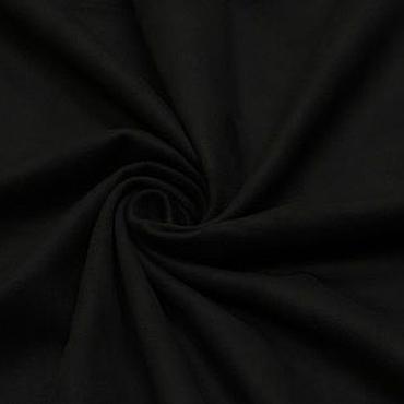 Материалы для творчества ручной работы. Ярмарка Мастеров - ручная работа Ткань замша стрейч  черная одежная. Handmade.